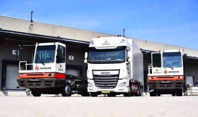 Vrachtwagen rangeerwagen